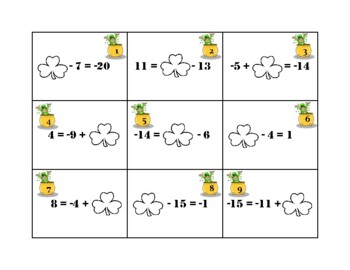 Luck of the Irish One-Step Equations with Integers Scoot
