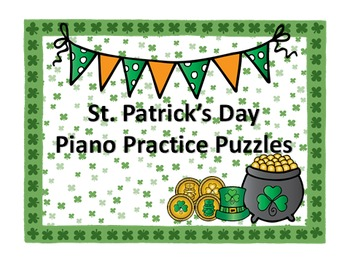 Luck of the Irish Piano Practice Puzzles