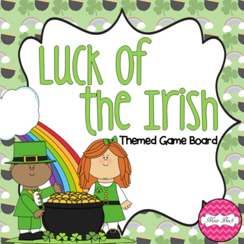 Luck of the Irish (St. Patrick's Day themed Math game board)