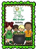 Luck of the Irish ~St. Patrick's Day~  ABC Order Task Cards