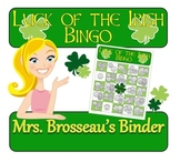 Money Math - St. Patrick's Day Adding Coins Bingo Cards -