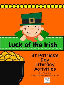 Luck of the Irish: St. Patrick's Day Literacy Centers and Craftivity