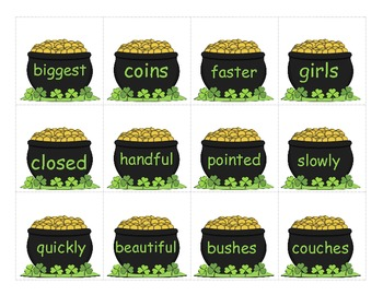 Luck of the Irish St. Patricks Day Suffixes