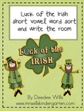 Luck of the Irish Word Sort  and Write-the-Room Hunt