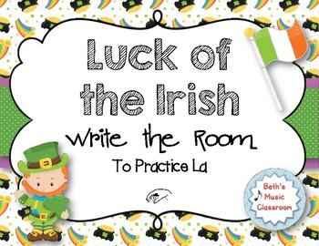 Luck of the Irish, Write-the-Room - Melodic Scavenger Hunt - La
