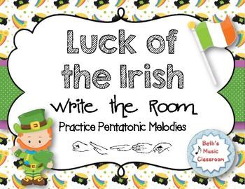 Luck of the Irish, Write-the-Room - Melodic Scavenger Hunt: Pentatonic