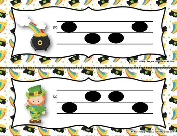 Luck of the Irish, Write-the-Room - Melodic Scavenger Hunt - So-Mi, 3-line Staff