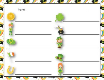 Luck of the Irish, Write-the-Room Rhythm Game - Practice Ta Rest