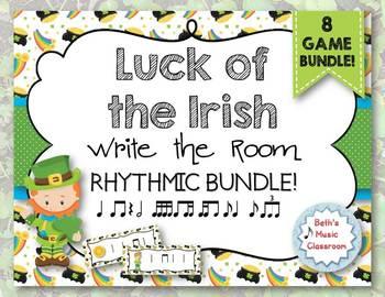 Luck of the Irish, Write-the-Room Rhythmic BUNDLE - 8 GAMES!