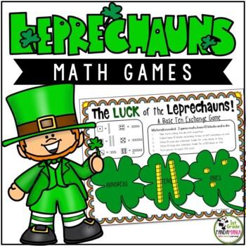 Luck of the Leprechauns 3 Math Games Grades 1-2