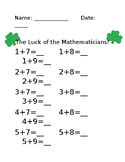 Luck of the Mathematicians!