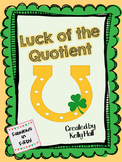 Luck of the Quotient: Two Digit Dividend with Remainders Division Game