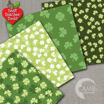 Digital Papers, St. Patrick's Day, Irish papers and backgrounds AMB-443