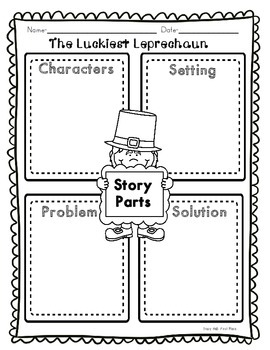 Luckiest Leprechaun Common Core Story Activities- freebie in preview