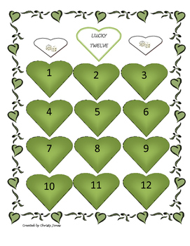 Lucky 12- A Dice Game- Hearts