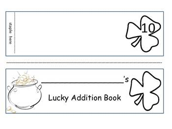Lucky Addition Activity Booklet First Grade