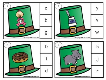 Lucky Beginning Sounds Clip it Cards with Recording Sheet!