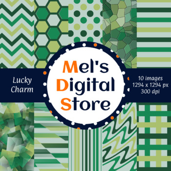 Lucky Charm Primary Party Digital Papers {Mel's Digital Store} - Freebie