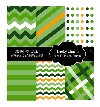 Lucky Charm Paper Pack. St Patrick Day
