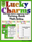 """Updated New Unicorn"" Lucky Charm Sorting Mats and Graphing Chart Math Centers"