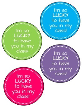 Lucky Charms Tags for Meet the Teacher