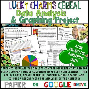 Lucky Charms Cereal Data Analysis and Graphing Project Paper or Google