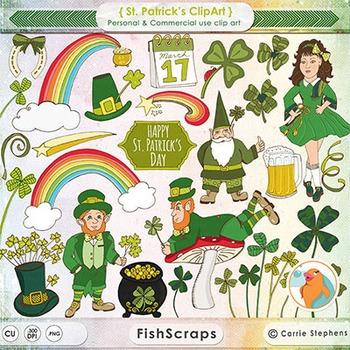 St. Patrick's Day Clip Art - Irish Leprechauns and Gnomes