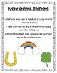 Lucky Charms Graphing  - St. Patrick's Day Activity