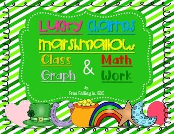 Lucky Charms Marshmallow Class Graph & Math Work