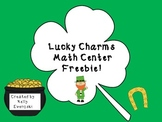 Lucky Charms Math Center Freebie!