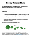 Lucky Charms Math - Lower Elementary