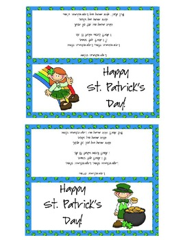 Lucky Charms St. Patrick's Day Bag Topper
