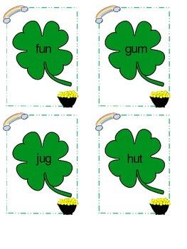 Lucky Clover CVC Decoding word game