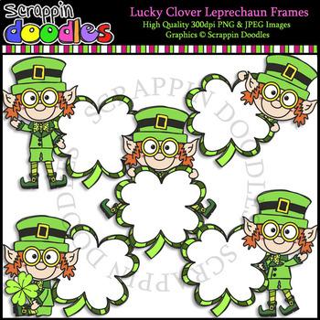 Lucky Clover Leprechaun Frames