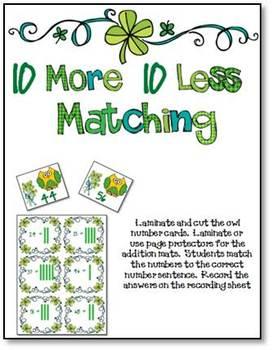 Lucky Clover Math Center Games