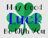 Good Luck Poster, Class Decor, Holiday Sign, Bulletin Boar