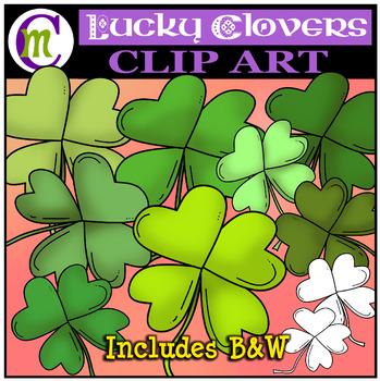 Lucky Clovers Clipart FREEBIE