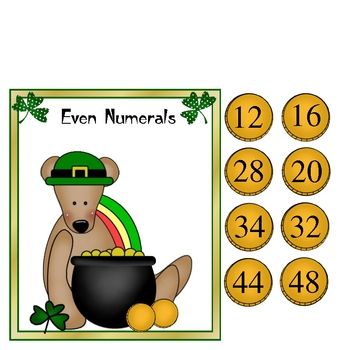 Lucky Coin Sort Odd Even Math Center St. Patrick's Day