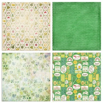 Lucky Digital Background Papers - Patterned, Light Texture - Saint Patty's Day