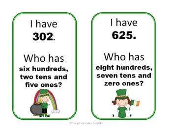 Lucky Digits- A St. Patrick's Day  2 & 3 digit place value pack