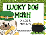 Lucky Dog Math Centers and Printables {Aligned with Common Core}