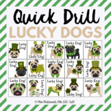 Quick Drill St. Patrick's Day Lucky Dogs {for speech thera