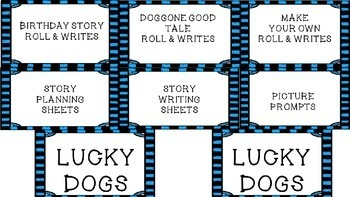 Dog-Themed Literacy Center and Roll and Write Activities--Roll, Write, Woof