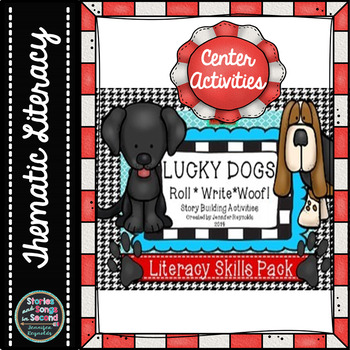 Read, Woof, Roll, and Write Literacy Centers--Building Story Element Skills