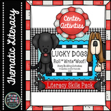Dog-Themed Literacy Center and Roll and Write Activities--