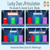 Lucky Door Articulation Boom Cards: Pre-vocalic R, Vocalic