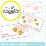 Lucky Duck Valentine's Day Cards!