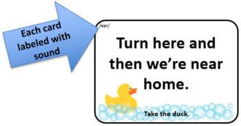 Lucky Duck /ear/ Sounds in Context Card Game