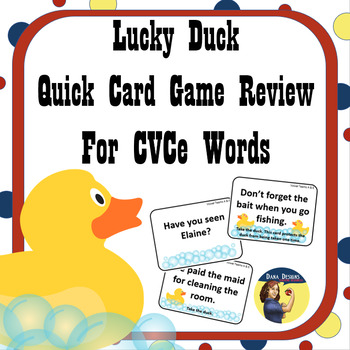 Lucky Duck CVCe Words Card Game