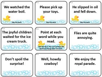 Lucky Ducks Dipthongs in Context Card Game